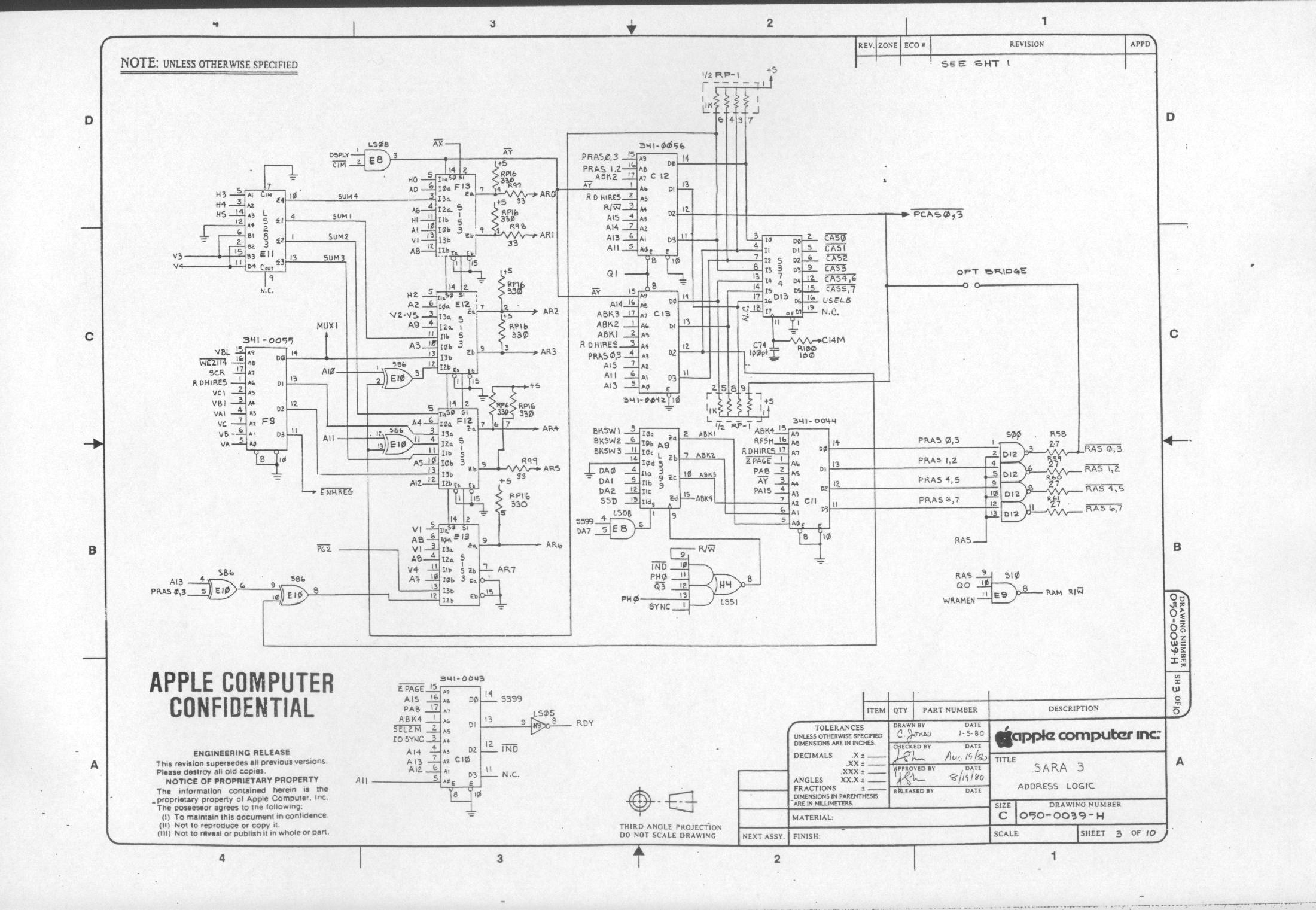 apple iii schematic diagrams