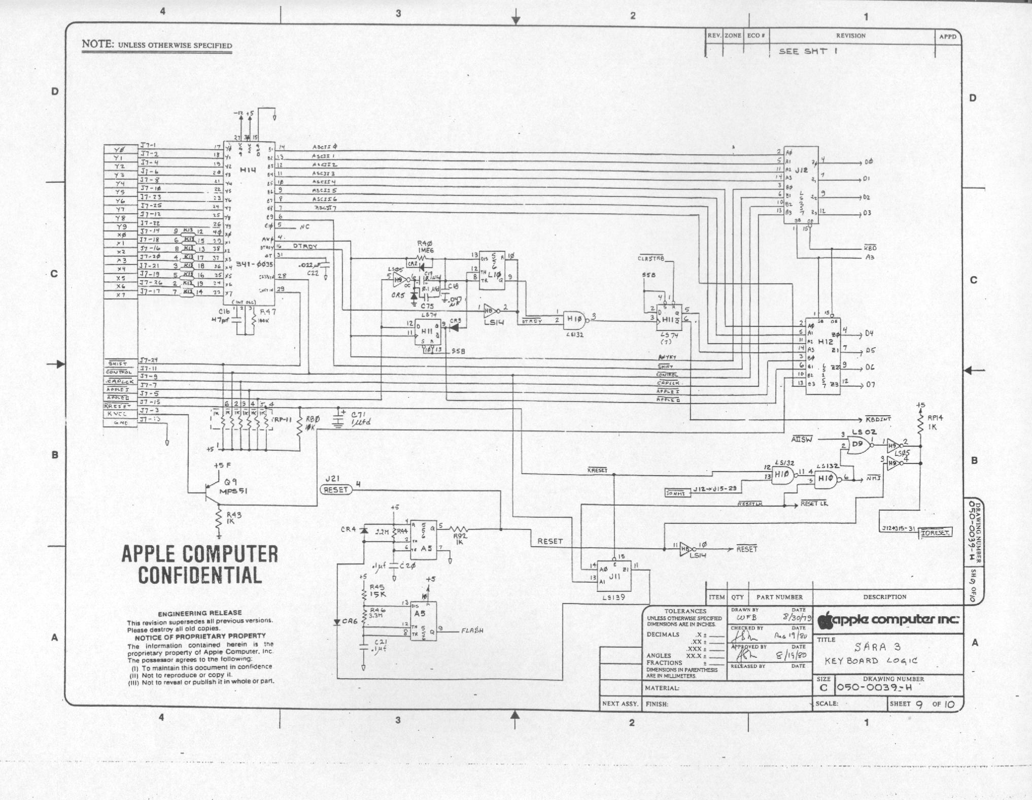 Apple Iii Schematic Diagrams Electronic Keyboard Circuit Diagram Logic 378452