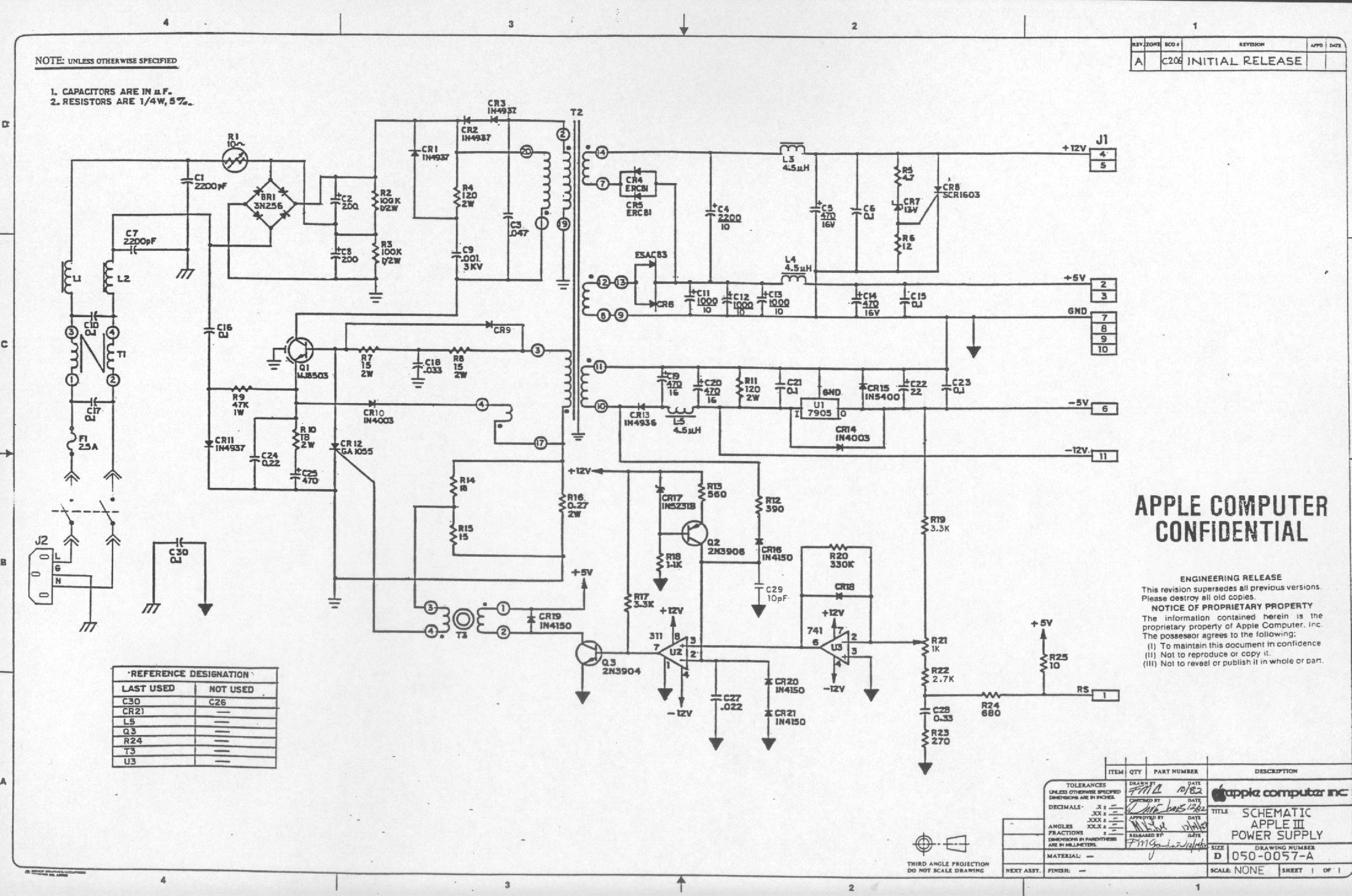 Astec Wiring Diagram Example Electrical 1999s 10 Schematics Diagrams Apple Iii Schematic Rh Apple3 Org 3 Way Switch Light